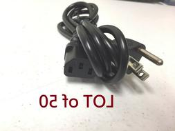 Lot of 50 pc-3 Prong Power Cord Cable for Desktop Computer M