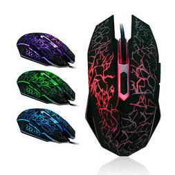 6D Buttons LED USB Professional Gaming Mouse 4000 DPI For De