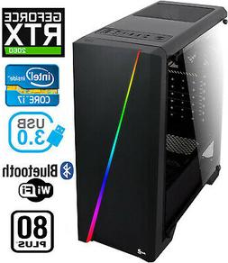 Gaming PC Desktop Computer RGB Intel i7, RTX 2060, 16GB RAM,