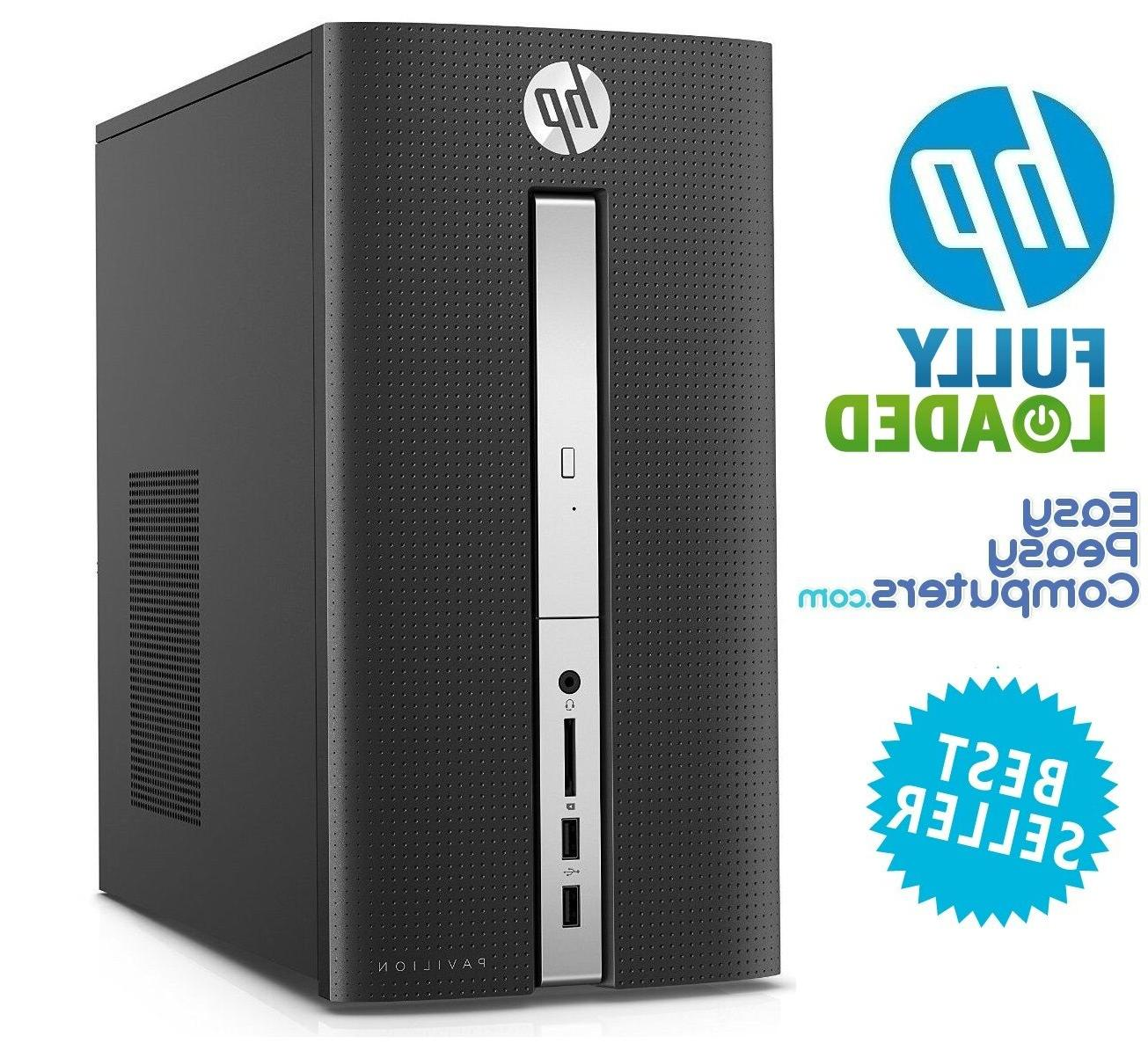 HP Desktop Computer 1TB Windows 10 Bluetooth DVD+RW