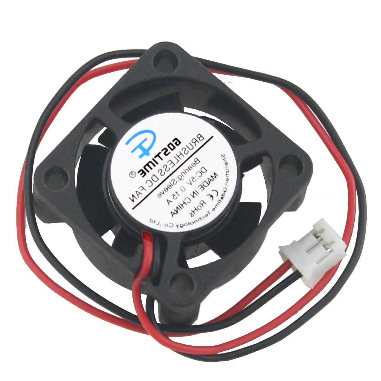 Mini 25mm Brushless Cooling Cooler Fan 10mm 2Pin