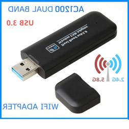 Mini 1200Mbps USB Wireless WiFi LAN Network Receiver Card Ad