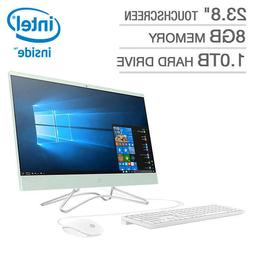 """NEW HP 23.8"""" Touchscreen All-in-One Desktop PC Computer 8GB"""