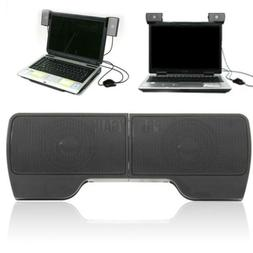 New USB Hanging External Computer Speakers Stereo for Laptop