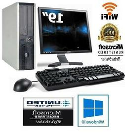 "HP OR DELL Desktop PC 4GB 160GB HDD 19"" LCD Monitor WiFi Win"