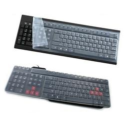 Universal Clear Silicone Desktop Computer Keyboard Cover Ski