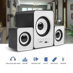 USB Bluetooth Computer Speakers Stereo Super Bass Music For
