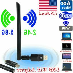 USB WiFi Adapter Dongle Card Wireless Network For Laptop Des