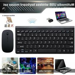 Wireless Keyboard and Mouse 2.4GHz Combo Computer Desktop PC