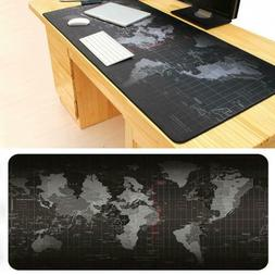 World Map Mouse Pad Large Computer Mat Gaming Rubber Laptop