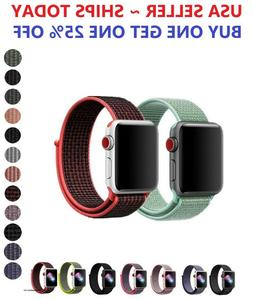 Woven Nylon Band for Apple Watch Sport Loop Series 5/4/3/2/1
